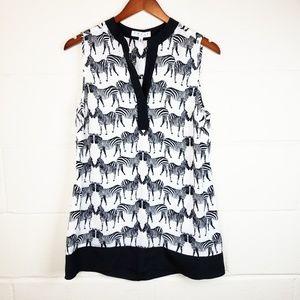 Chaus New York Sheer Zebra Top